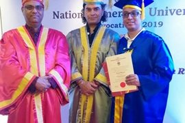 Neeraj Sharma has been conferred with Doctorate by National American University, United States of America